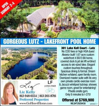 Gorgeous Lutz - Lakefront Pool Home