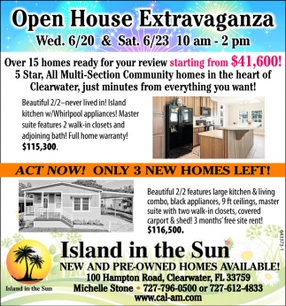 Open House Extravaganza
