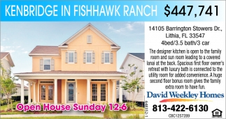 Kenbridge In Fishhawk Ranch $447,741