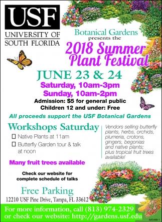 Usf Botanical Gardens Plant Sale 2018