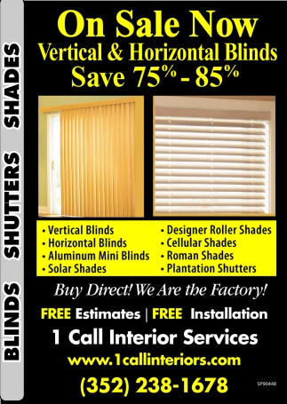 Vertical & Horizontal Blinds