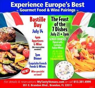 Gourmet Food & Wine Pairings