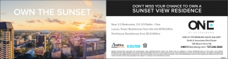 Don't Miss Your Chance To Own A Sunset View Residence