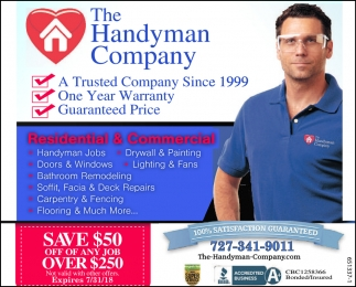 Save $50 Off Of Any Job Over $250