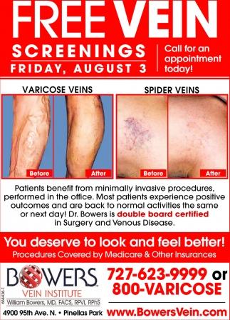 Free Vein Screenings