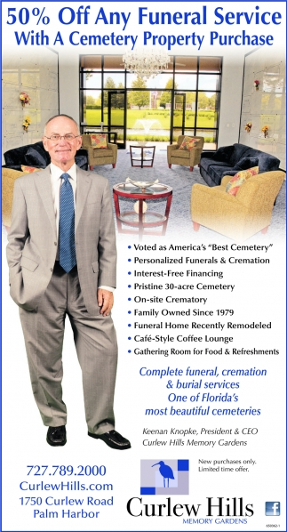 50% Off Any Funeral Service With A Cemetery Property Purchase