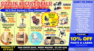 Sizzlin August Deals
