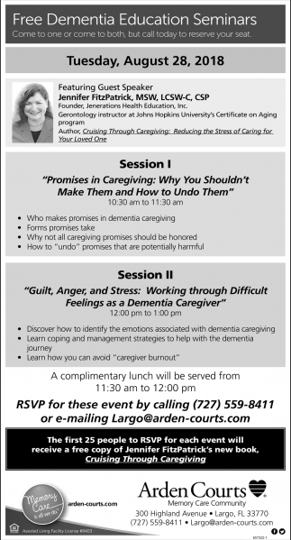 Free Dementia Education Seminars