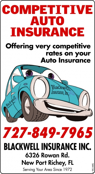 Exceptional Competitive Auto Insurance, Blackwell Insurance Inc