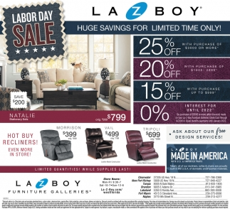 Labor Day Sale Lazboy Furniture Galleries Lakeland Fl