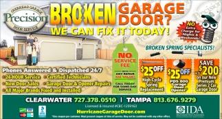 Broken Garage Door?