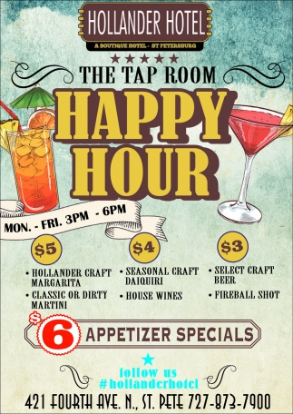 THE TAP ROOM HAPPY HOUR