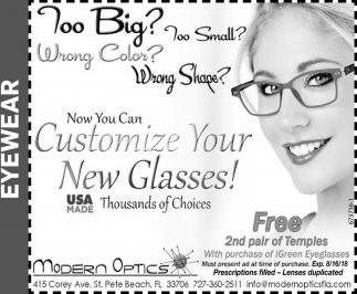 Modern optics 2 modern array customize your new glasses modern optics saint petersburg fl rh local tampabay fandeluxe Images