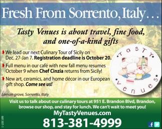 Fresh From Sorrento, Italy
