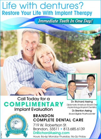 Life With Dentures? Restore Your Life With Implant Therapy