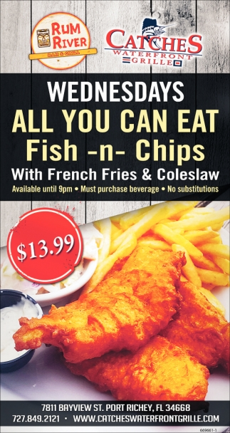 All You Can Eat Catches Seafood Port Richey Fl
