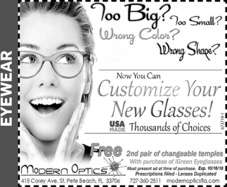 Customize Your New Glasses!