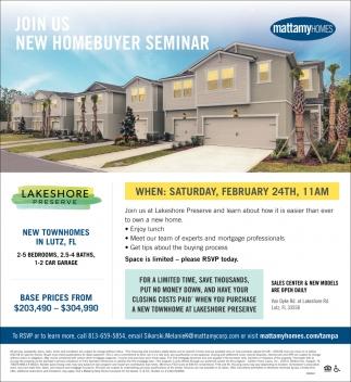 New HomeBuyer Seminar
