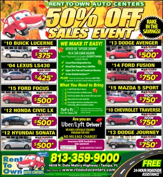 50% Off Sales Event