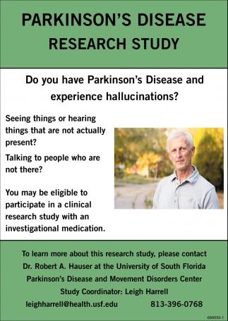 PARKINSON'S DISEASE RESEARCH STUDY