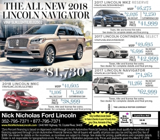the all new 2018 lincoln navigator nick nicholas ford lincoln. Black Bedroom Furniture Sets. Home Design Ideas