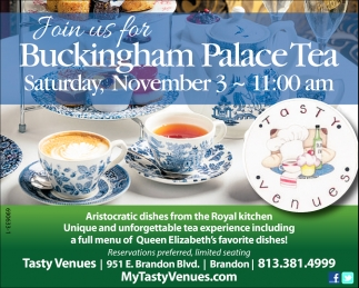 Join us For Buckingham Palace Tea