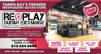 TAMPA BAY'S PREMIER INDEPENDENT GUITAR STORE