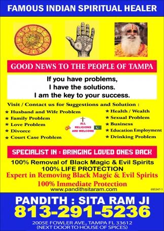FAMOUS INDIAN SPIRITUAL HEALER