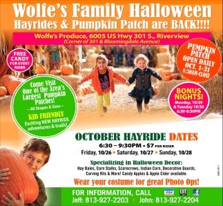 Wolfe's Family Halloween