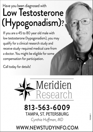 Have You Been Diagnosed With Low Testosterone (Hypogonadism)?