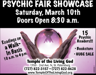 Psychic Fair Showcare, Temple Of The Living God