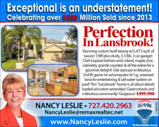 Perfection In Lansbrook!