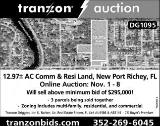 Online Auction, Tranzon Auction, Ocala, FL