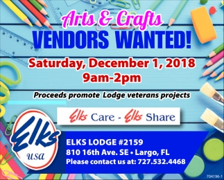 Arts & Crafts Vendors Wanted!