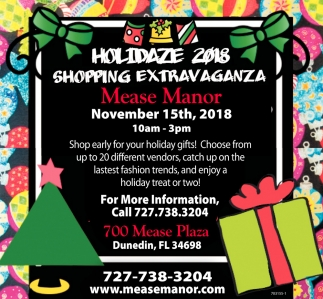 HOLIDAZE 2018 SHOPPING EXTRAVAGANZA