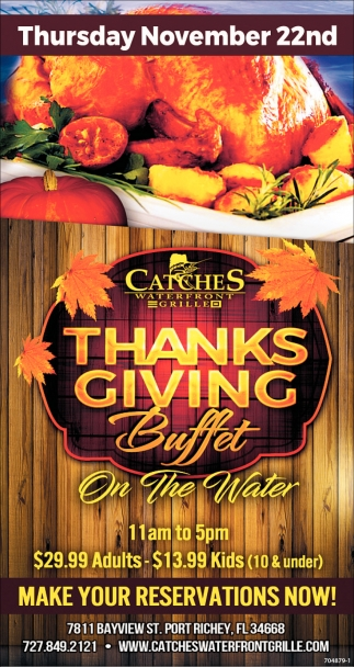 Thanksgiving Buffet Catches Seafood Port Richey Fl