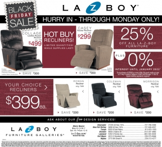Black Friday Sale La Z Boy Furniture Galleries Tampa Fl