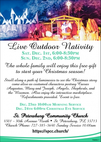 Live Outdoor Nativity