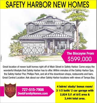 SAFETY HARBOR NEW HOMES