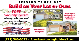 FREE SECURITY SYSTEM, American Housing Builders, Inc , Pinellas Park, FL