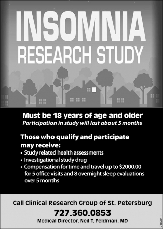 INSOMNIA RESEARCH STUDY