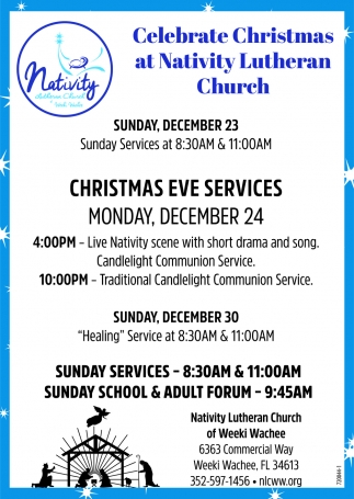 Celebrate Christmas At Nativity Lutheran Church