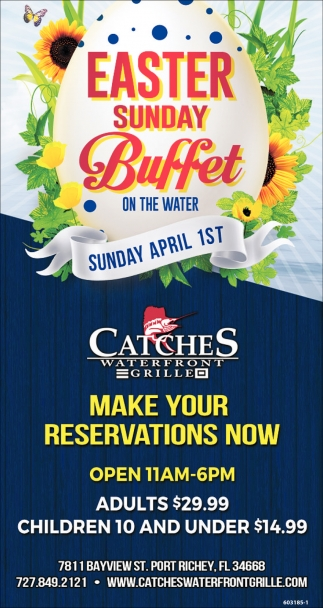 Easter Sunday Buffet On The Water