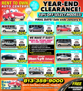 YEAR-END CLEARANCE!