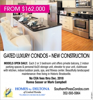 Gated Luxury Condos - New Construction