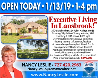Executive Living In Lansbrook!