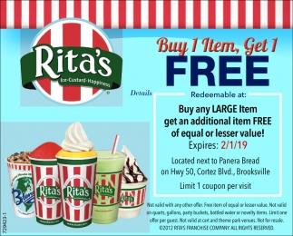 Buy 1 Item, Get 1 Free
