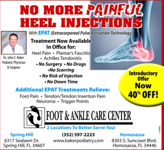 No More Painful Heel Injections