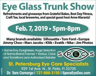 Eye Glass Trunk Show