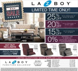 Presidents day sale la z boy furniture galleries tampa fl